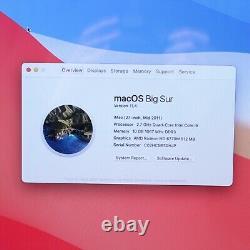 Apple iMac 12,2 A1312 27 Mid 2011 i5 2500S 2.7GHz 8GB 1TB HD 6770M Big Sur