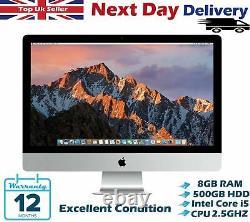 Apple iMac 21.5-Inch Intel Core i5 2.50Ghz 8GB RAM 500GB HDD High Sierra A Grade