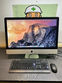 Apple iMac 27 A1312 3.4GHz Core i7 Processor 4GB 2TB HDD HIGH SIERRA MID 2011