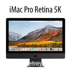 Apple iMac Pro 5K A1862 MQ2Y2LL/A 27 PC withXeon-W 3.2GHz 32GB 1TB SSD Used