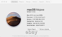Apple Imac 2013 21.5 2.7ghz I5 8gb 256hdd Lire