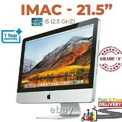 Apple Imac A1311 21.5in 2011 I5 2,5 Ghz 8gb Ram 500gb Hdd Grade Un Poste Gratuit